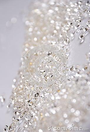 Silver glitter background