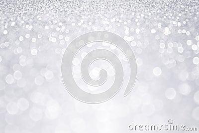 Silver Glitter Winter Christmas Background Stock Photo