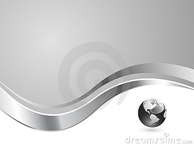 Silver globe background