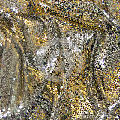 Free Silver, Gold Fabric Texture With Spangles Royalty Free Stock Image - 89871086