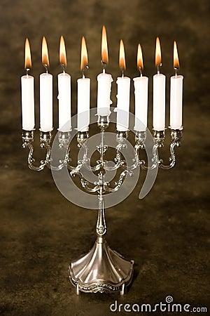 Silver hanukkah