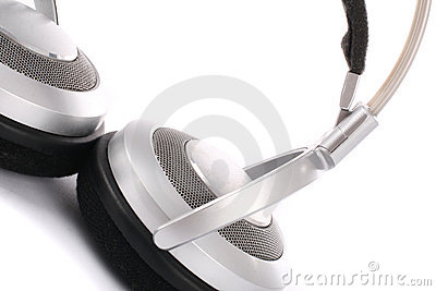 Silver headphone