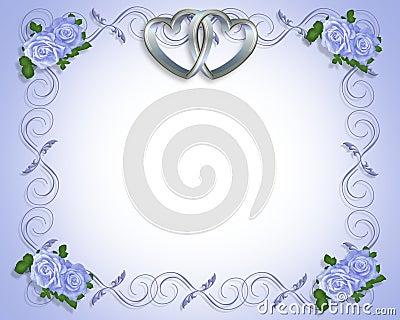 Silver Hearts Wedding Invitation