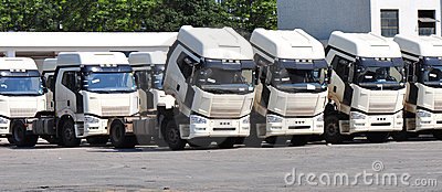 Silver heavy trucks