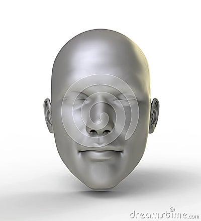 Silver human mask