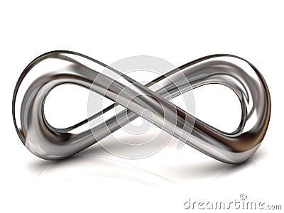 Silver Infinity Symbol