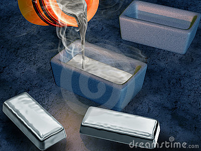 Silver ingot casting