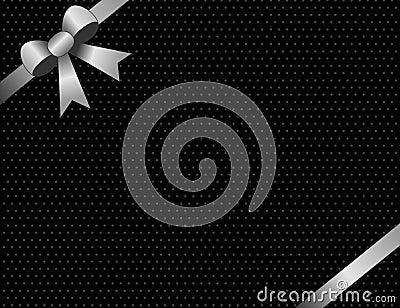 Silver invitation / background