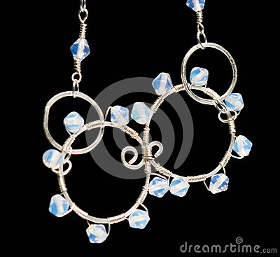 Free Silver Jewels With Colorful Precious Stones Stock Images - 44508814