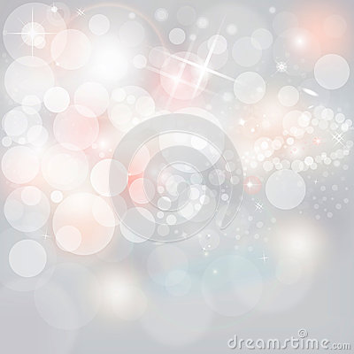 Free Silver Lights & Stars On Neutral Grey Christmas Holiday Background Royalty Free Stock Images - 33501199