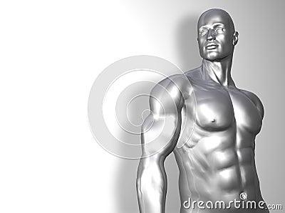 Silver man torso