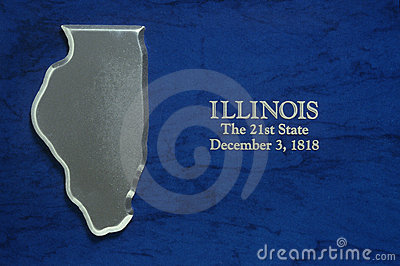Silver Map of Illinois
