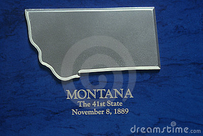 Silver Map of Montana