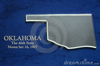 Silver Map of Oklahoma