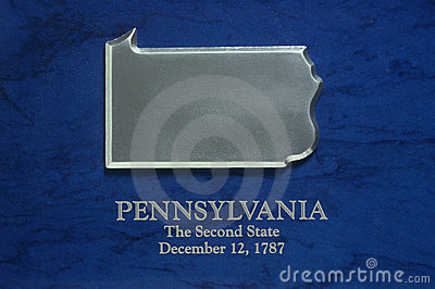 Silver Map of Pennsylvania