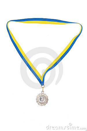 Silver medals isolated on white