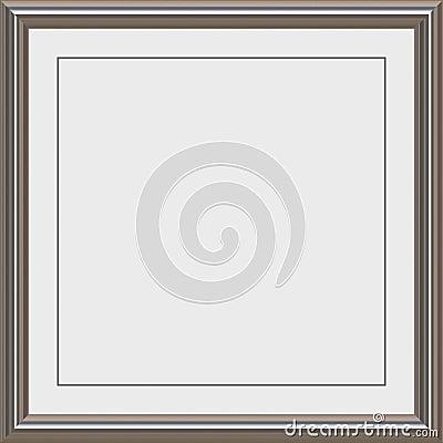silver Metal award frame