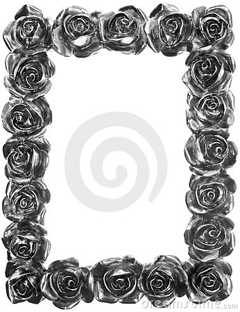 Free Silver Metal Rose Ornate Frame Stock Photography - 20374752