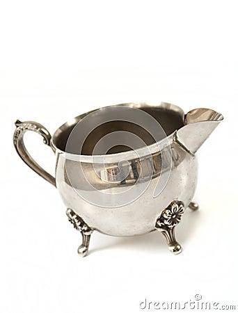 Free Silver Milk Jug Royalty Free Stock Photo - 20494755