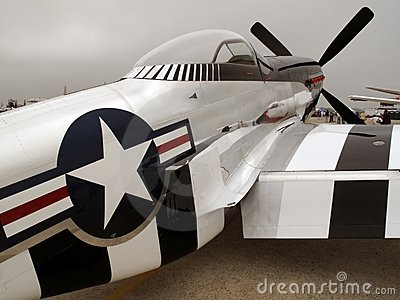 Silver P51 Mustang Fighter