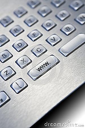 Silver PC keyboard