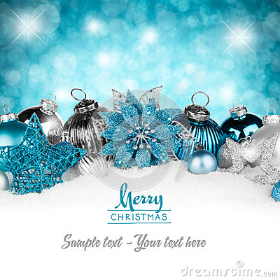 Free Silver Petrol Christmas Card Stock Photos - 35652773