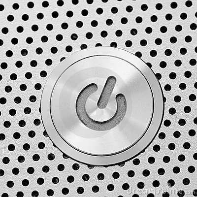 Silver power button