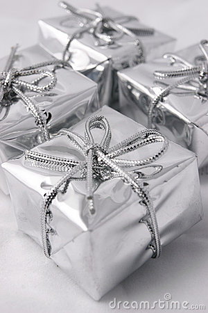 Free Silver Presents Royalty Free Stock Photo - 1659465