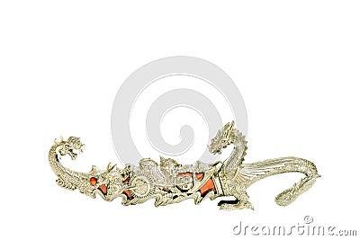 Silver ritual chinese dagger