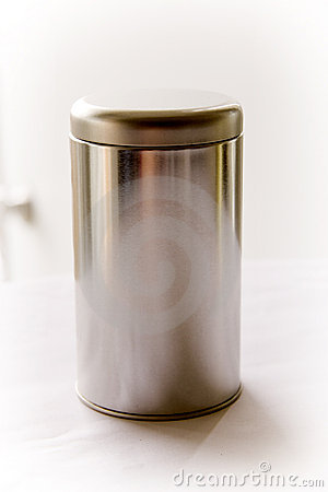 Silver Round Tin Cans With Gavarst Lid