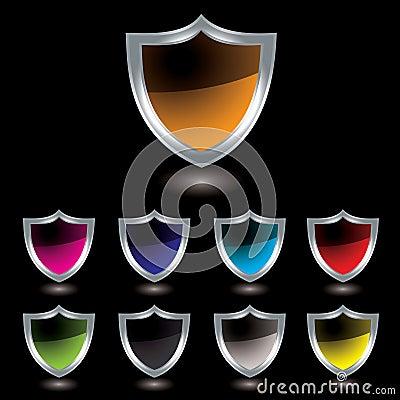 Silver shield black