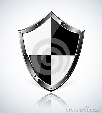Silver shield with reflection