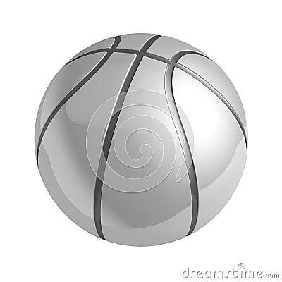 Silver Shiny Basketball With Reflection Stock Photos - Image: 13540853