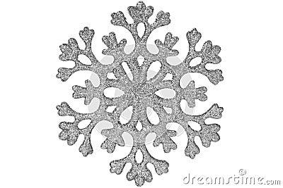 Silver shiny snowflake