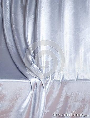 Silver silk drapery