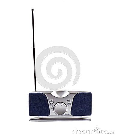 Silver small fm radio