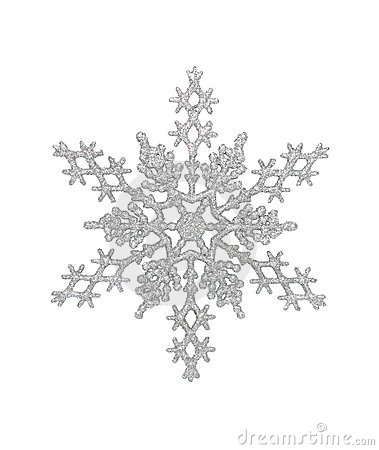 Free Silver Snowflake Royalty Free Stock Photo - 21439935