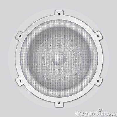 Silver speaker closeup - vector