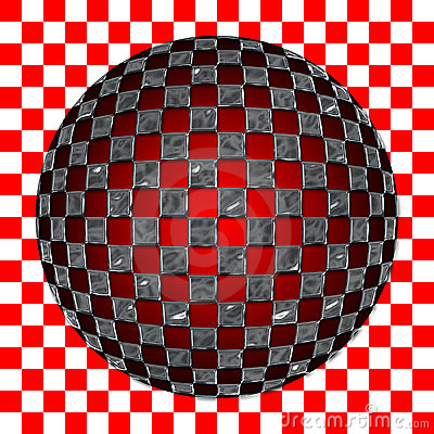 Checkered sphere