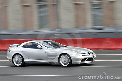 Silver sportcar
