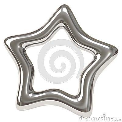 Silver star 3d