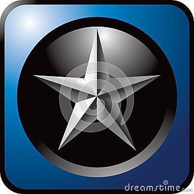 Silver star blue icon