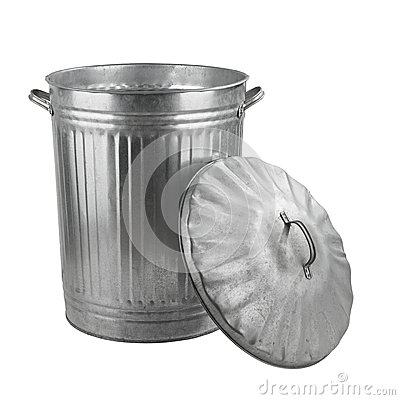 Free Silver Steel Trash Can Royalty Free Stock Photography - 33532807