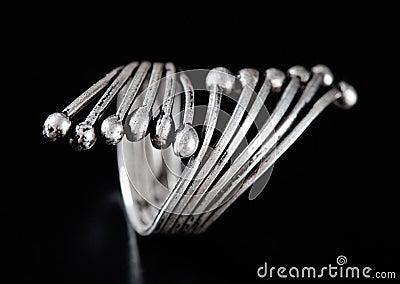 Silver stylish ring