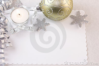 Silver tea light candle