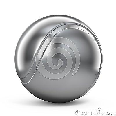 Silver Tennis ball