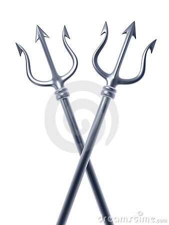 Soil Bag Clipart Silver Trident Cross R...