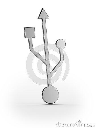 Silver usb symbol