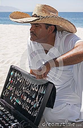 Silver Vendor Playa Las Estacas Mexico