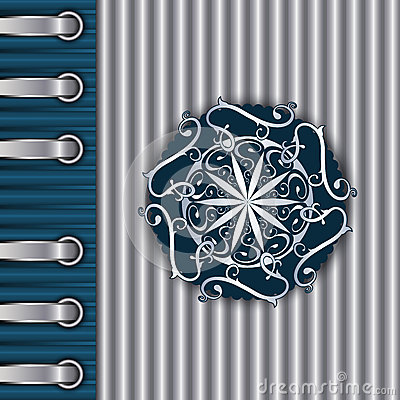 Silver Vintage Textured Template